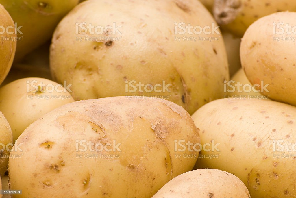Bunch of Raw Potatoes royalty-free stock photo
