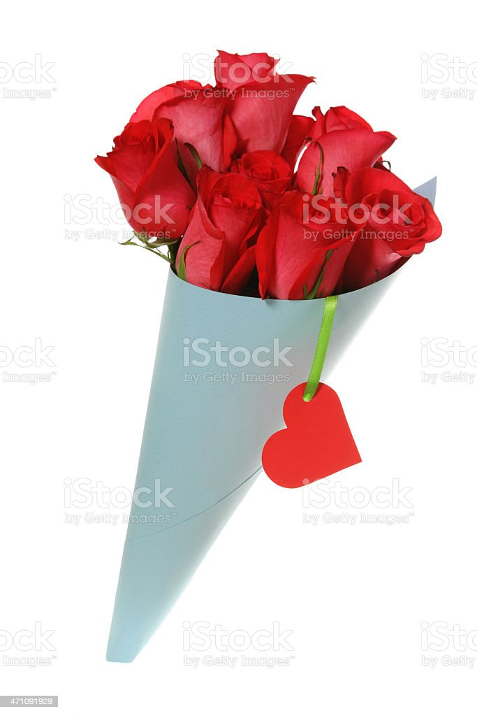 bunch of red roses royalty-free stock photo
