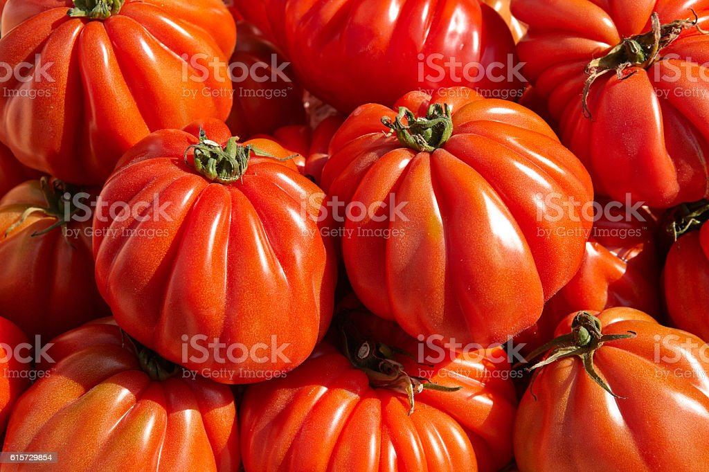 Bunch of red tomato RAF stock photo