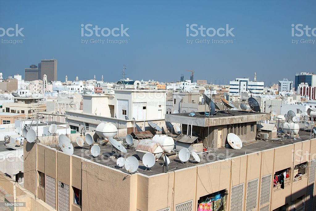 Bunch of Satellite Dishes stock photo