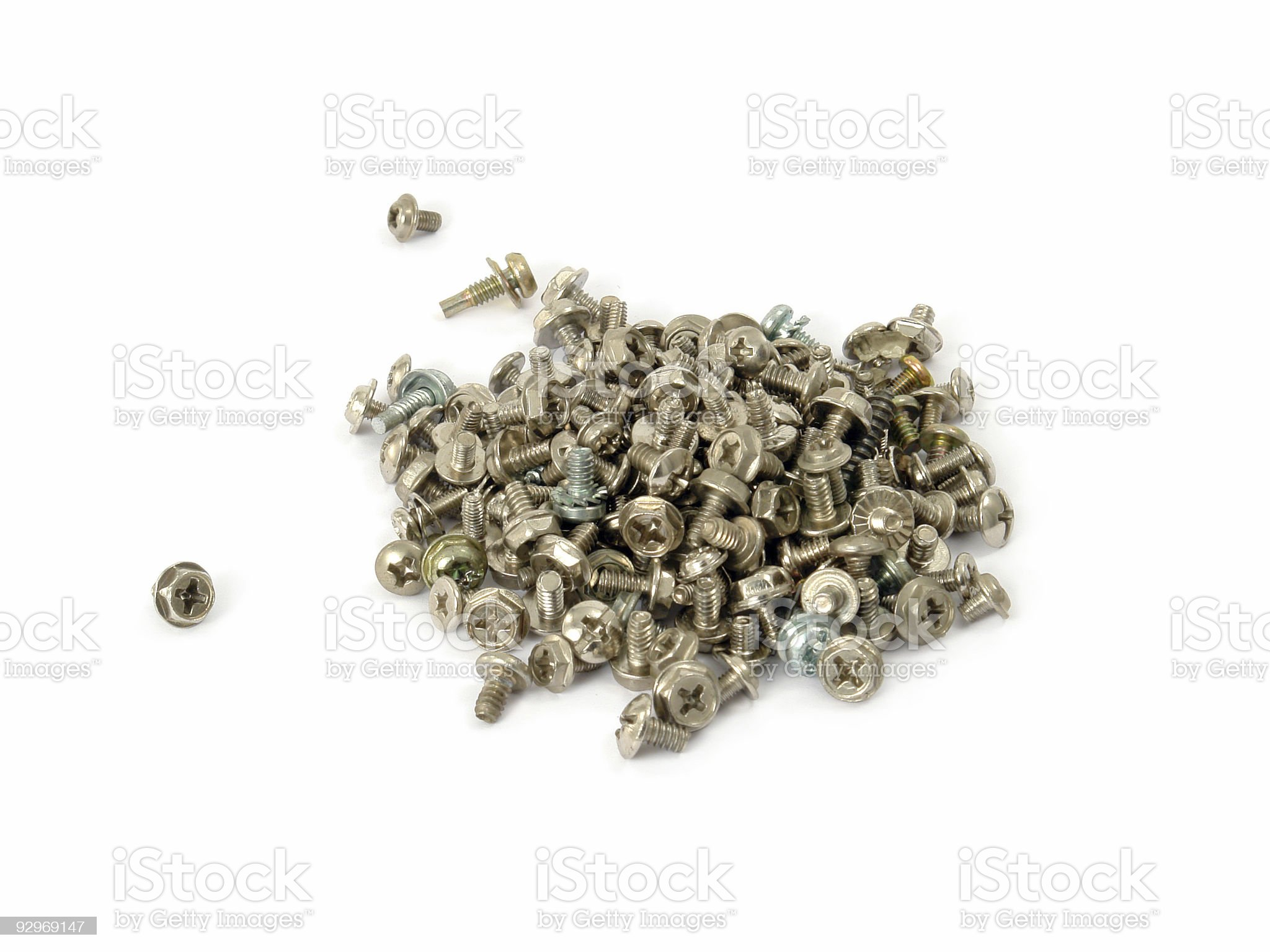 Bunch of screws royalty-free stock photo