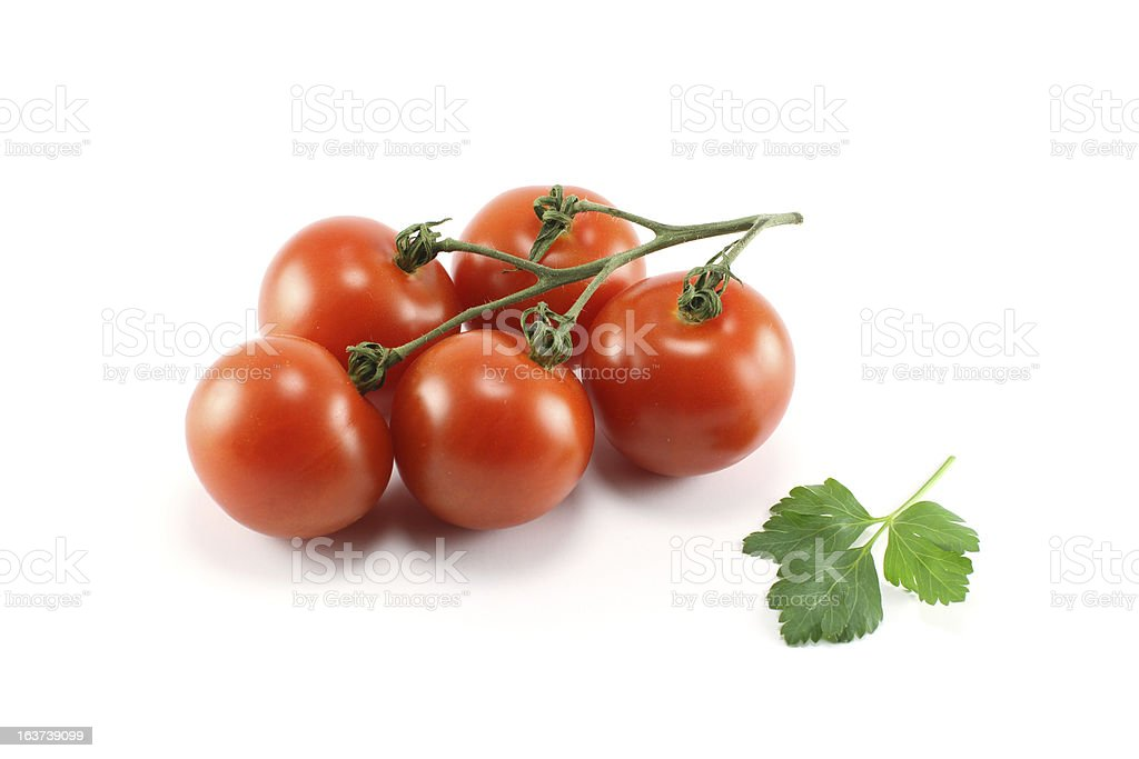 Bunch Of Tomatoes With Parsley royalty-free stock photo