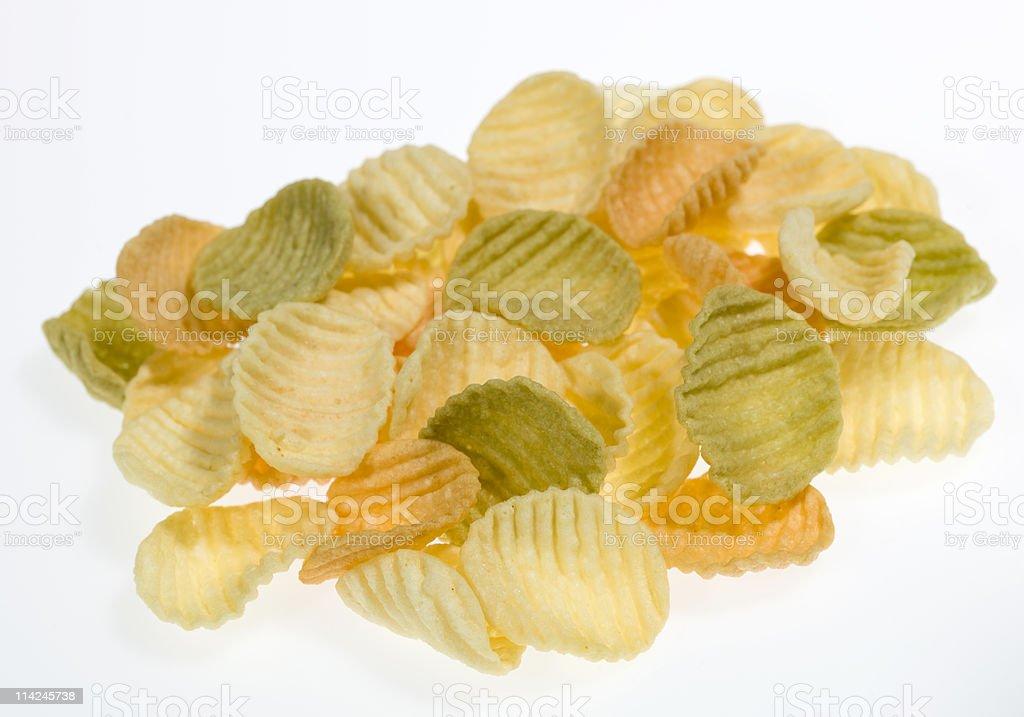 Bunch of veggie chips stock photo