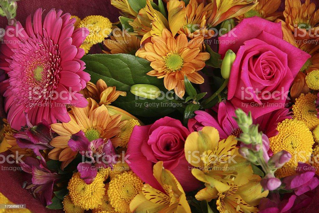 Tas de fleurs chatoyantes photo libre de droits