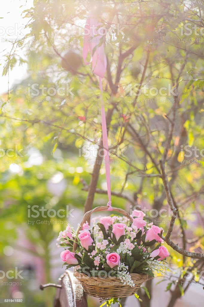 Bunch of wedding bouquet, Filtered Process color stock photo
