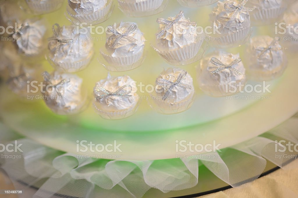 Bunch of wedding cupcakes royalty-free stock photo