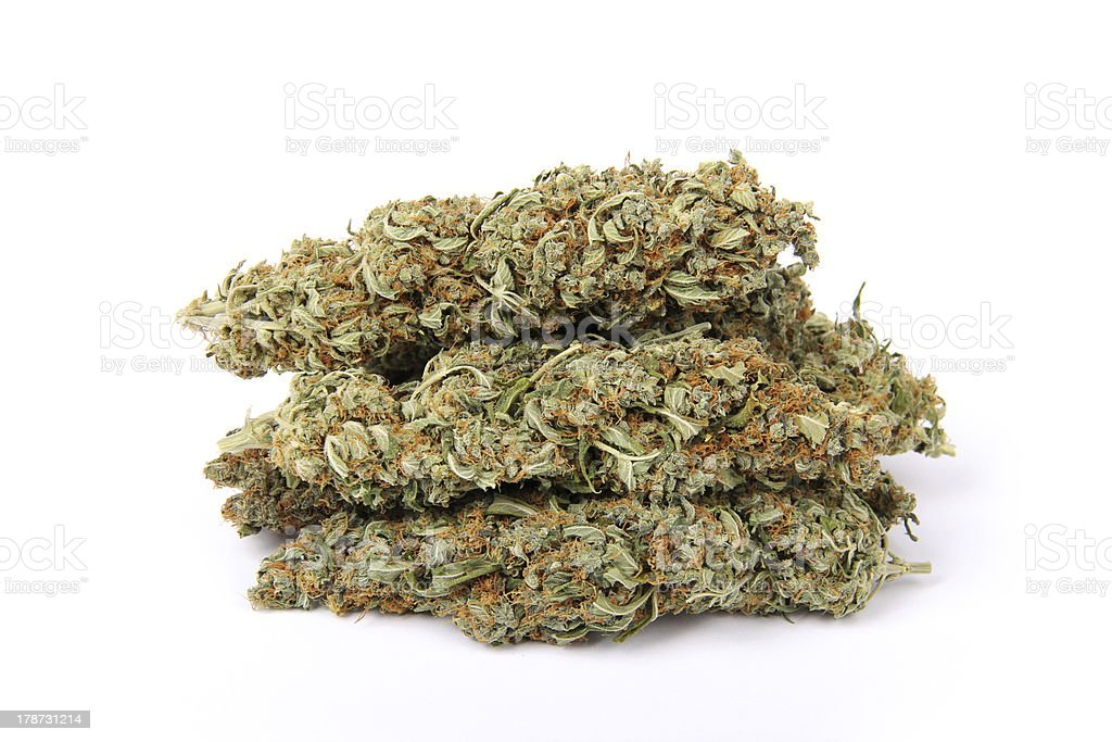 Bunch of Weed Isolated royalty-free stock photo