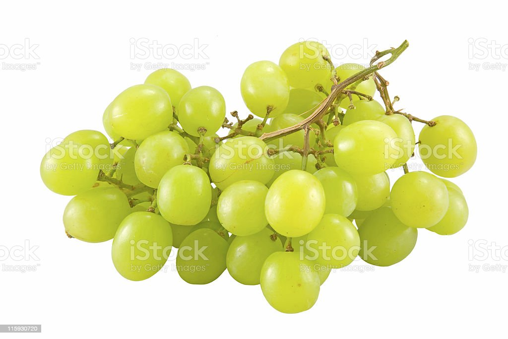 bunch of white grape royalty-free stock photo
