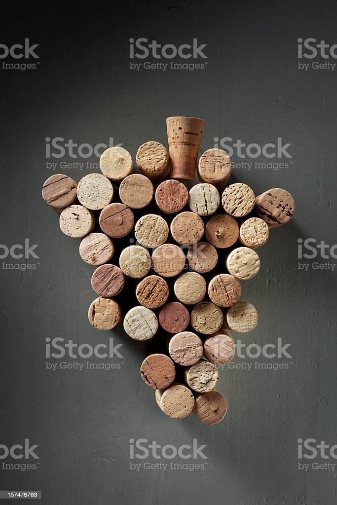 Bunch of wine corks royalty-free stock photo