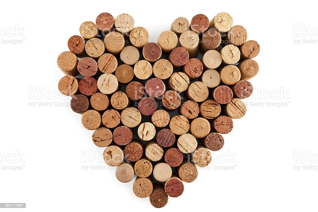 Bunch of Wine Corks stock photo