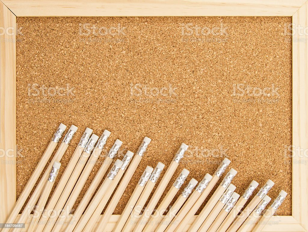 Bunch of wooden pencils. royalty-free stock photo