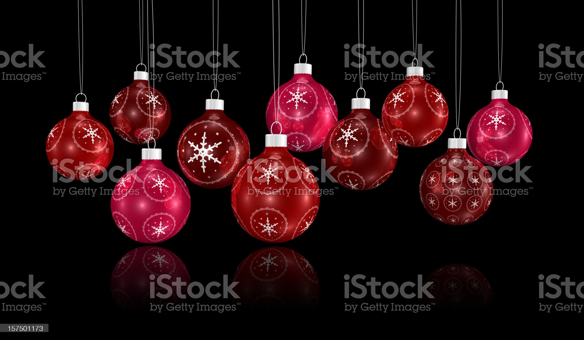 bunch of xmas ornaments hanging on a chain royalty-free stock vector art