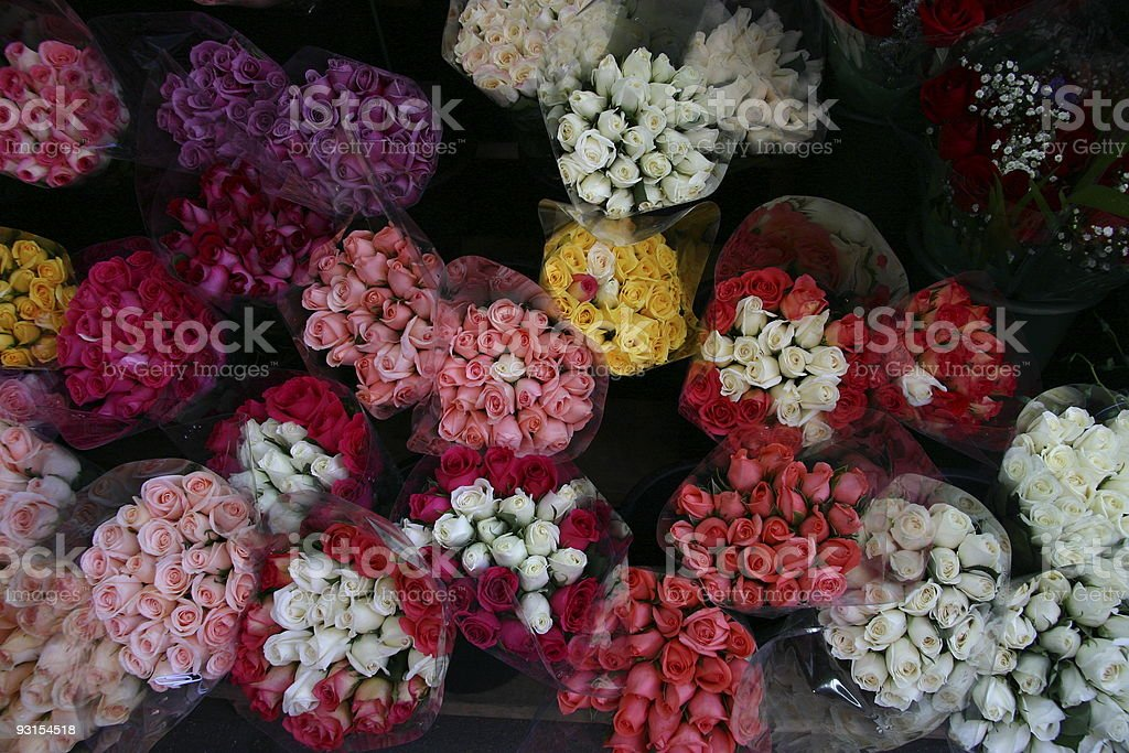 Bunches of Flowers royalty-free stock photo