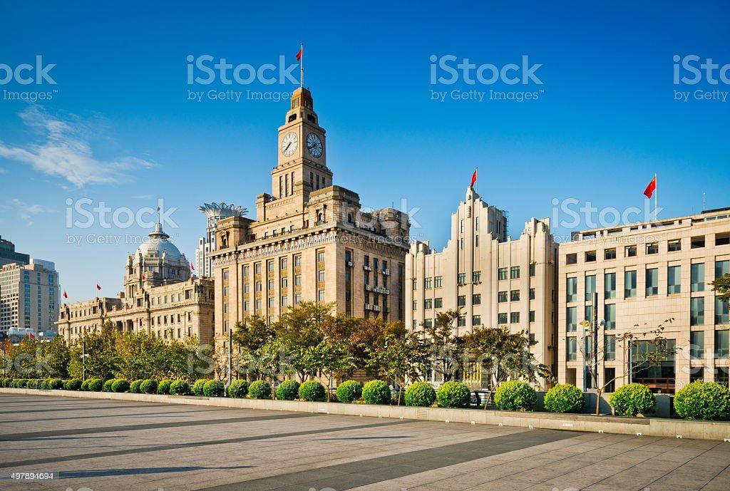 Bund in Shanghai, China stock photo