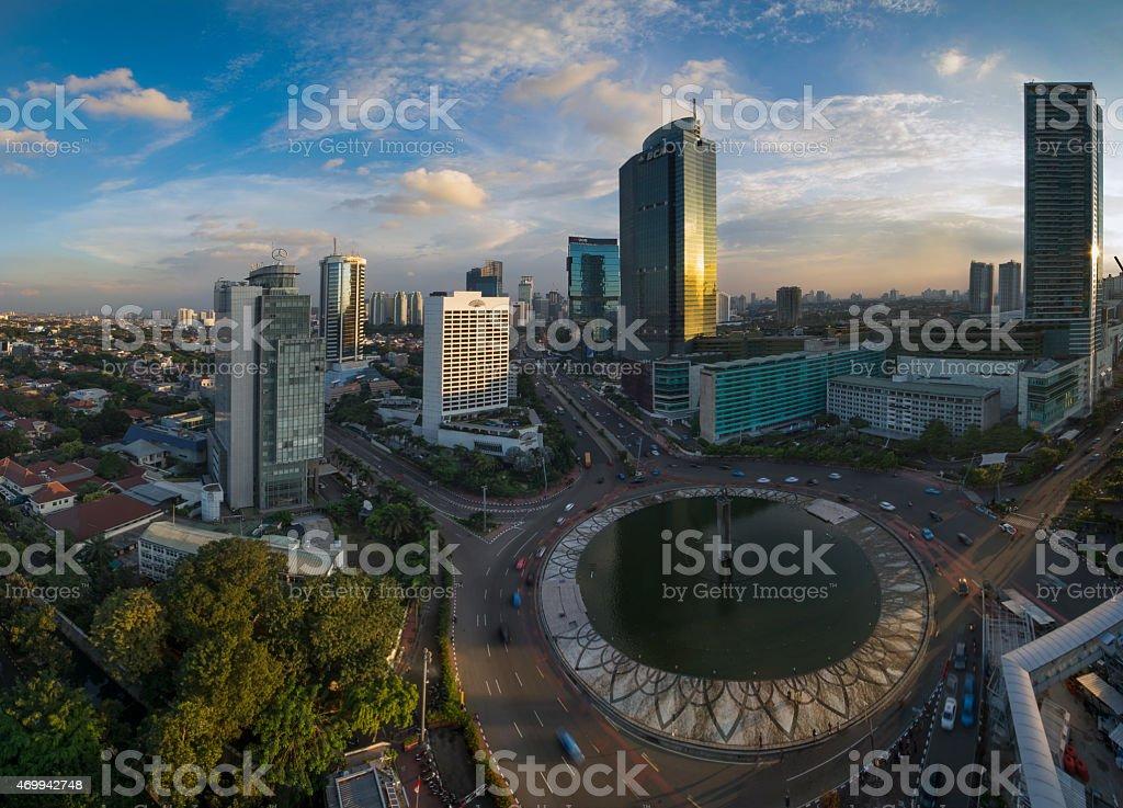 Bundaran HI Landmark of Jakarta stock photo