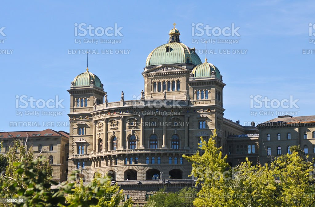 Bundeshaus in Bern stock photo