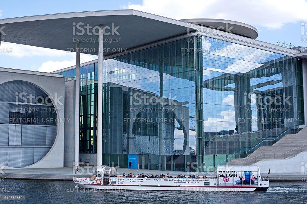 Bundeskanzleramt  - Federal Chancellery Building in Berlin stock photo