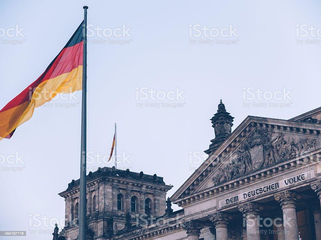 Bundestag berlin stock photo