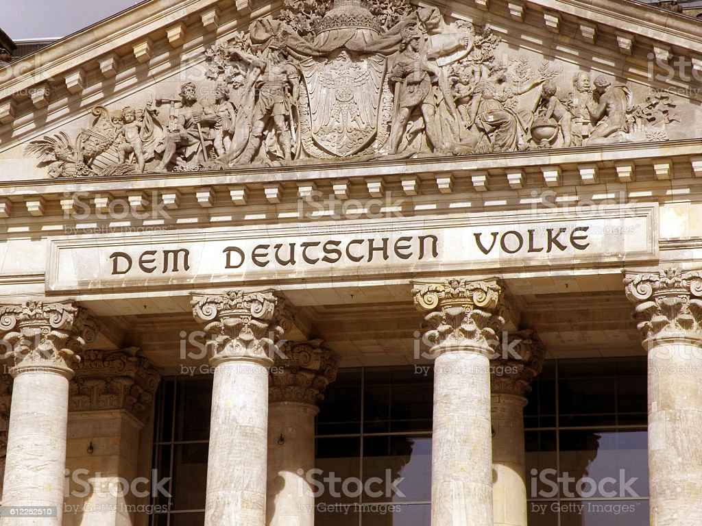 Bundestag Berlin stock photo