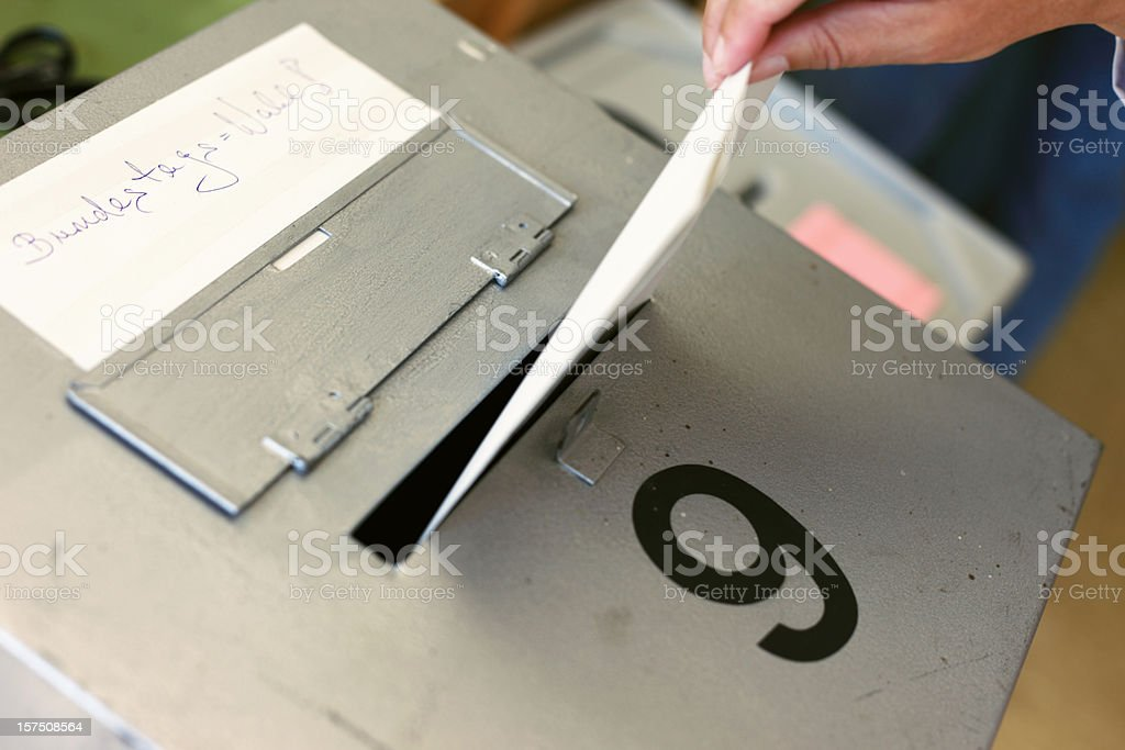 Bundestagswahl Ballot Box Germany stock photo