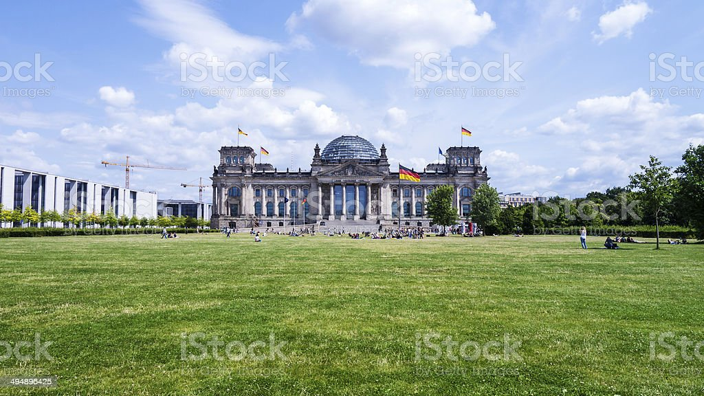 bundestag in berlin stock photo