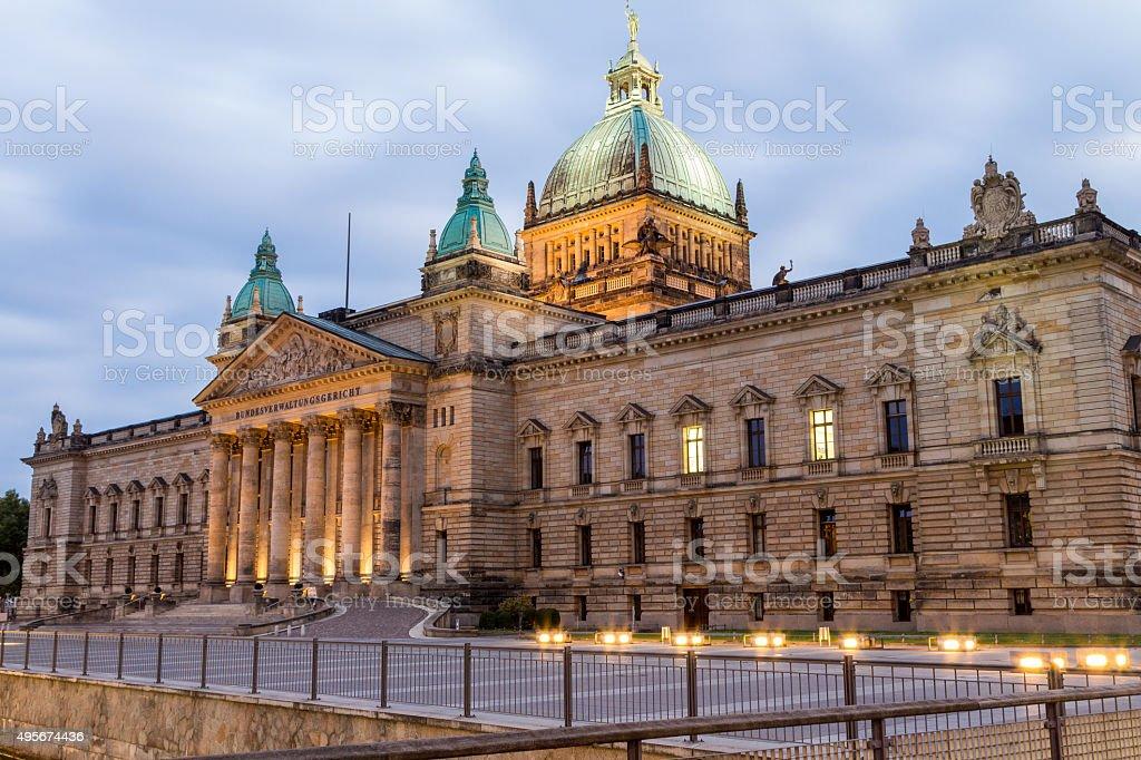 Bundesverwaltungsgericht / Federal Administrative Court Leipzig stock photo