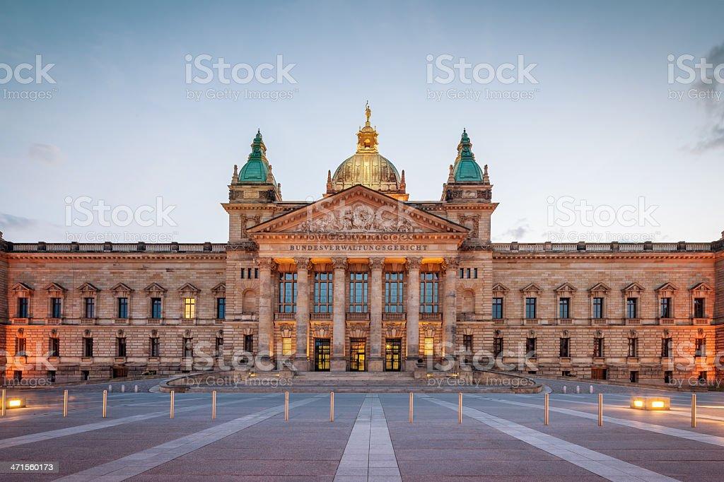 Bundesverwaltungsgericht Federal Court Building,Leipzig Germany stock photo