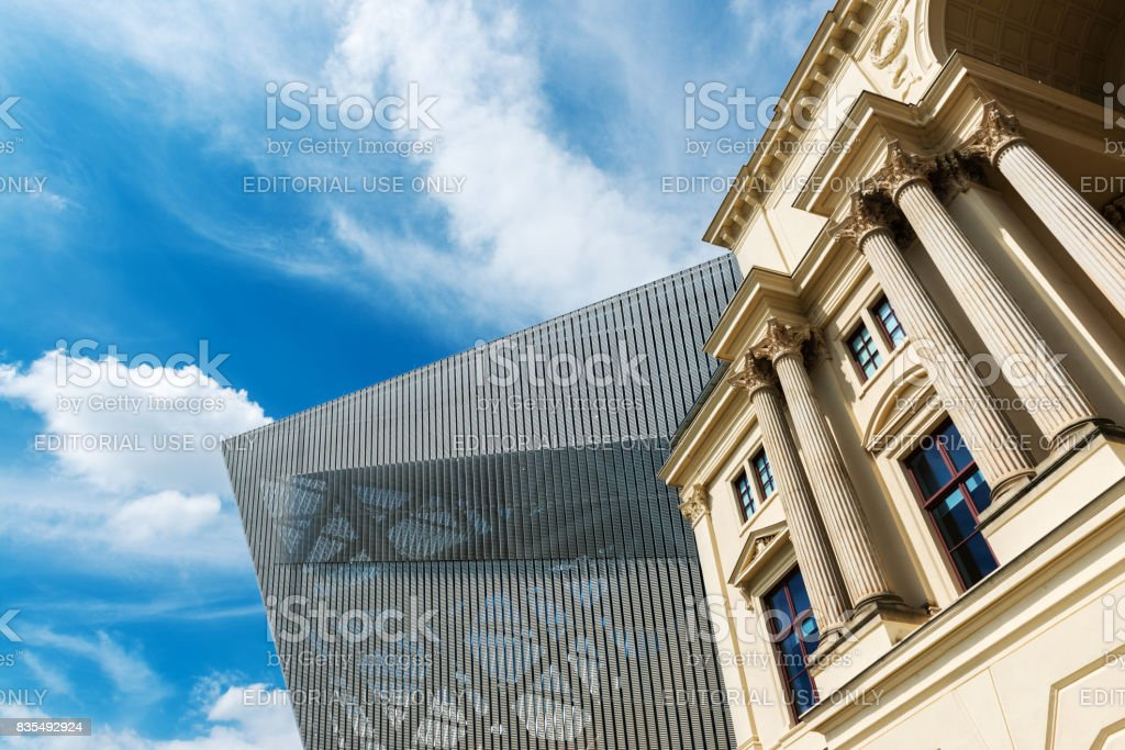 Bundeswehr Military History Museum in Dresden stock photo