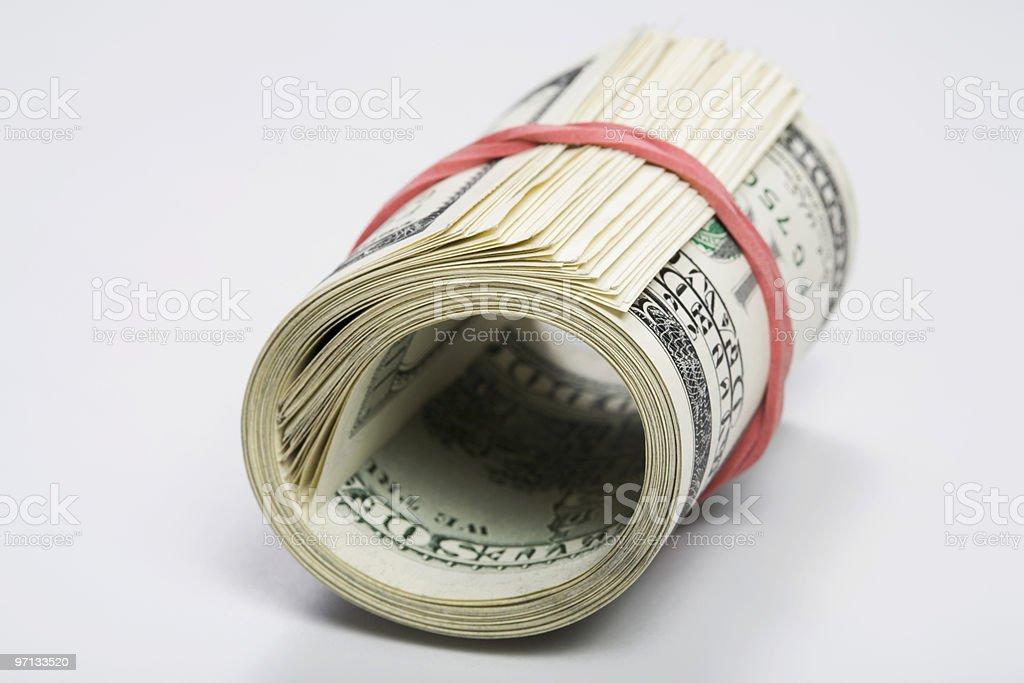 Bundle of bank notes stock photo