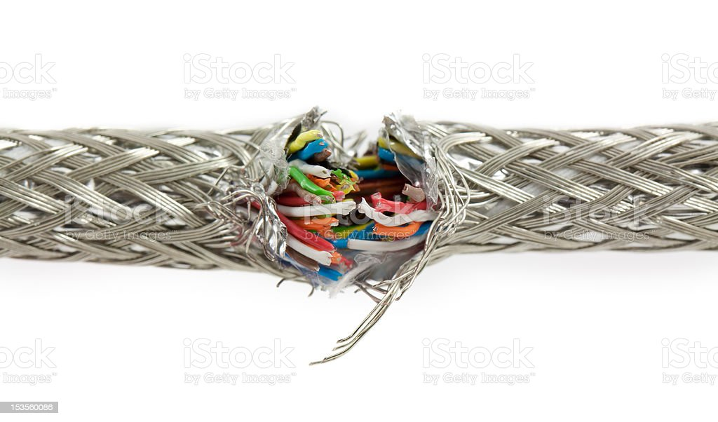 Bundle of color cables stock photo