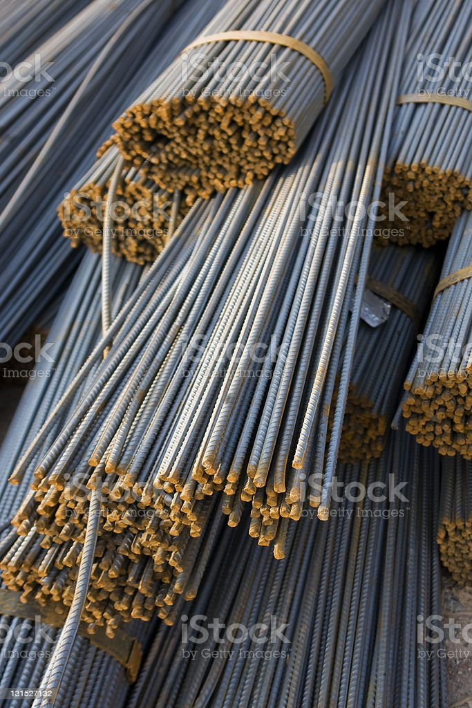 Bundle of iron rods royalty-free stock photo