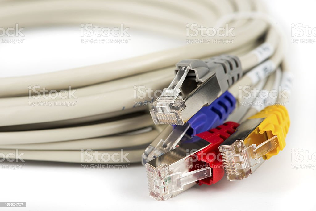 Bundle of network cables royalty-free stock photo
