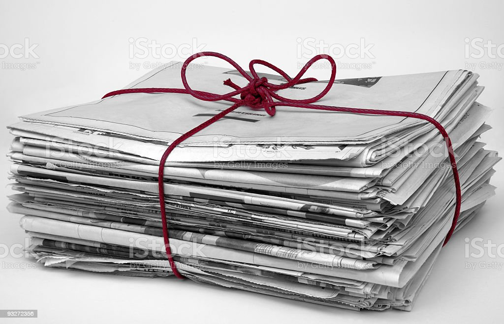 Bundle of Newspaper royalty-free stock photo