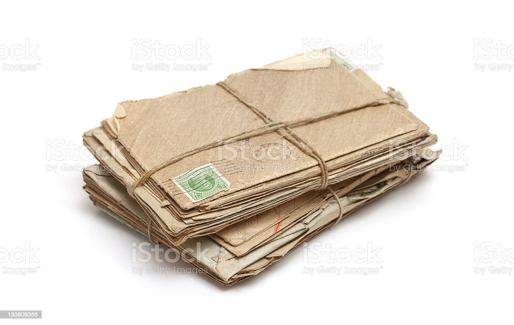 Bundle of old letters stock photo