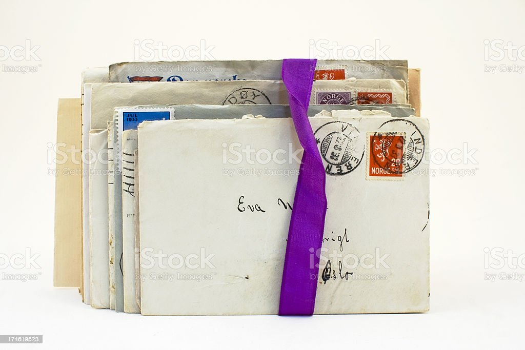Bundle of old love letters. royalty-free stock photo