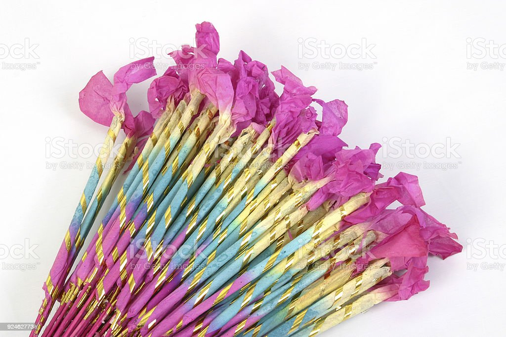 Bundle of Sparklers 2 royalty-free stock photo