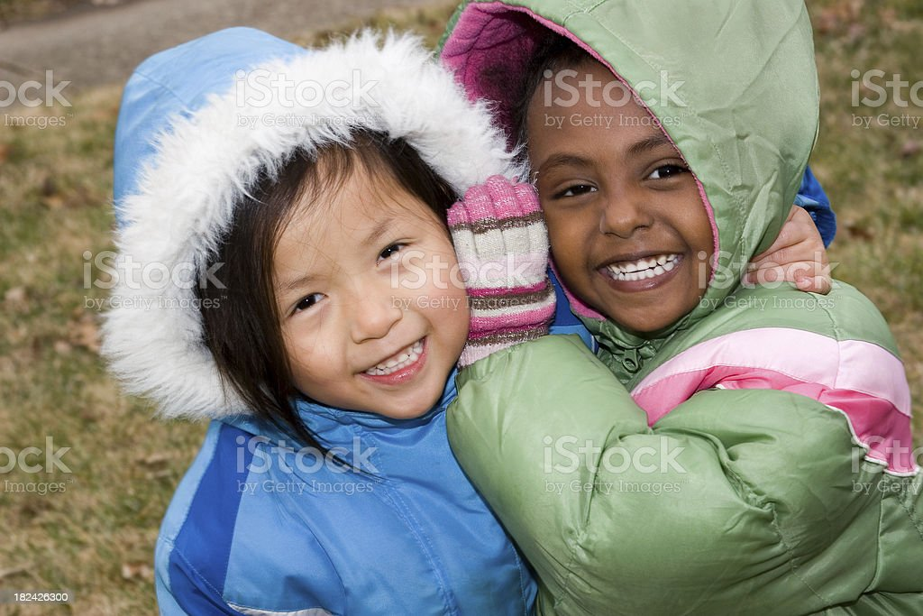 Bundled Up Fun stock photo