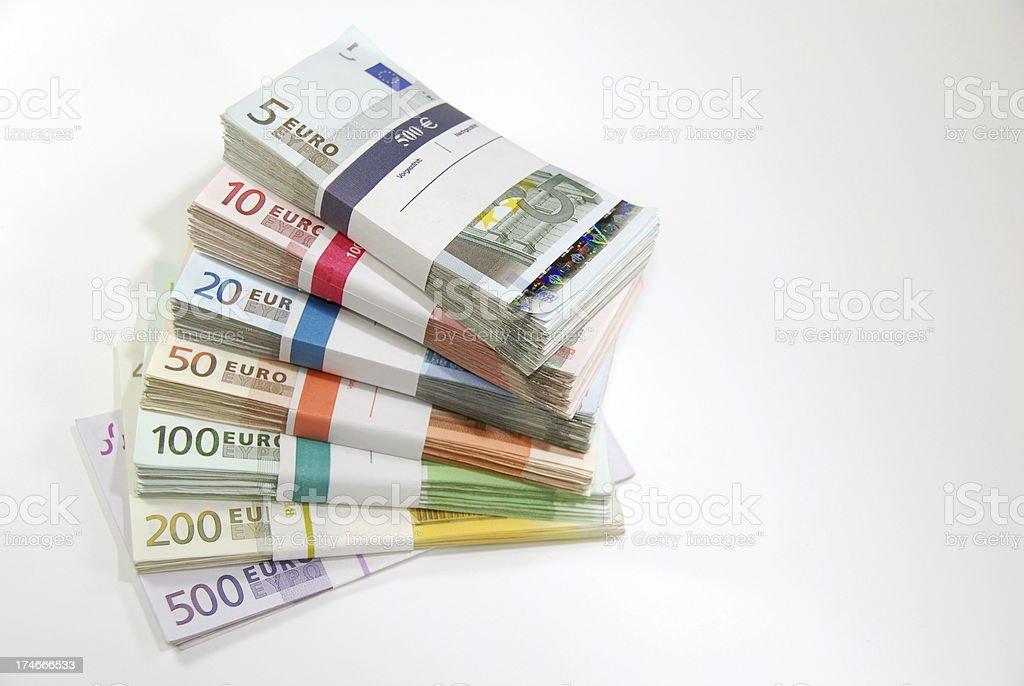Bundles of money royalty-free stock photo