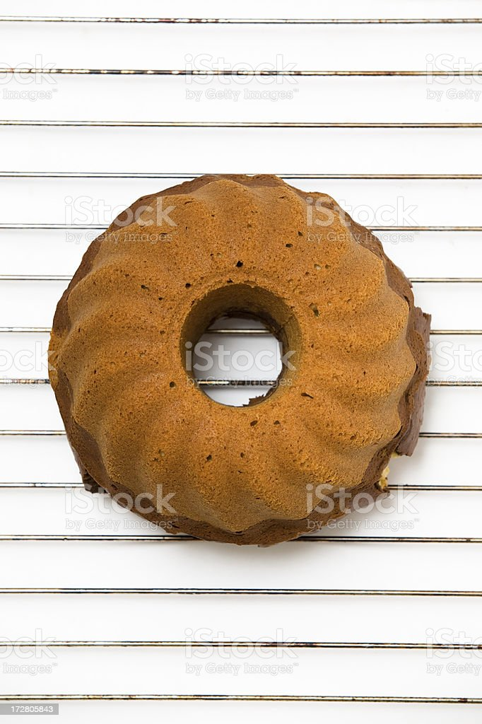 Bundt Cake on a Cooling Rack stock photo