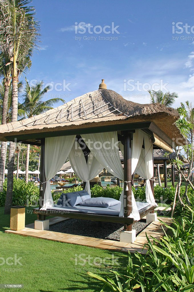 Bungalow At A Resort In Bali royalty-free stock photo