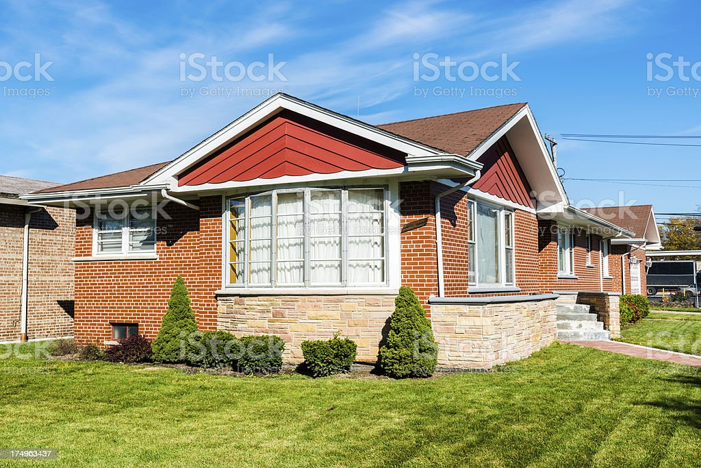 Bungalow in Calumet Heights, Chicago stock photo