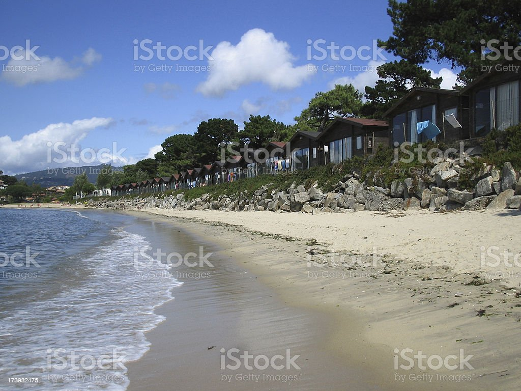 Bungalow in Spain stock photo