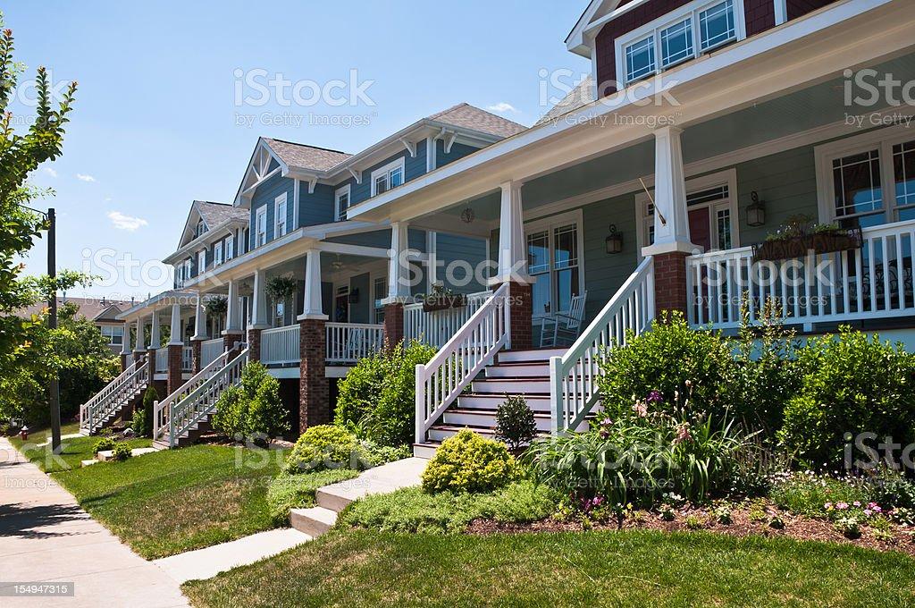 Bungalow Porches stock photo