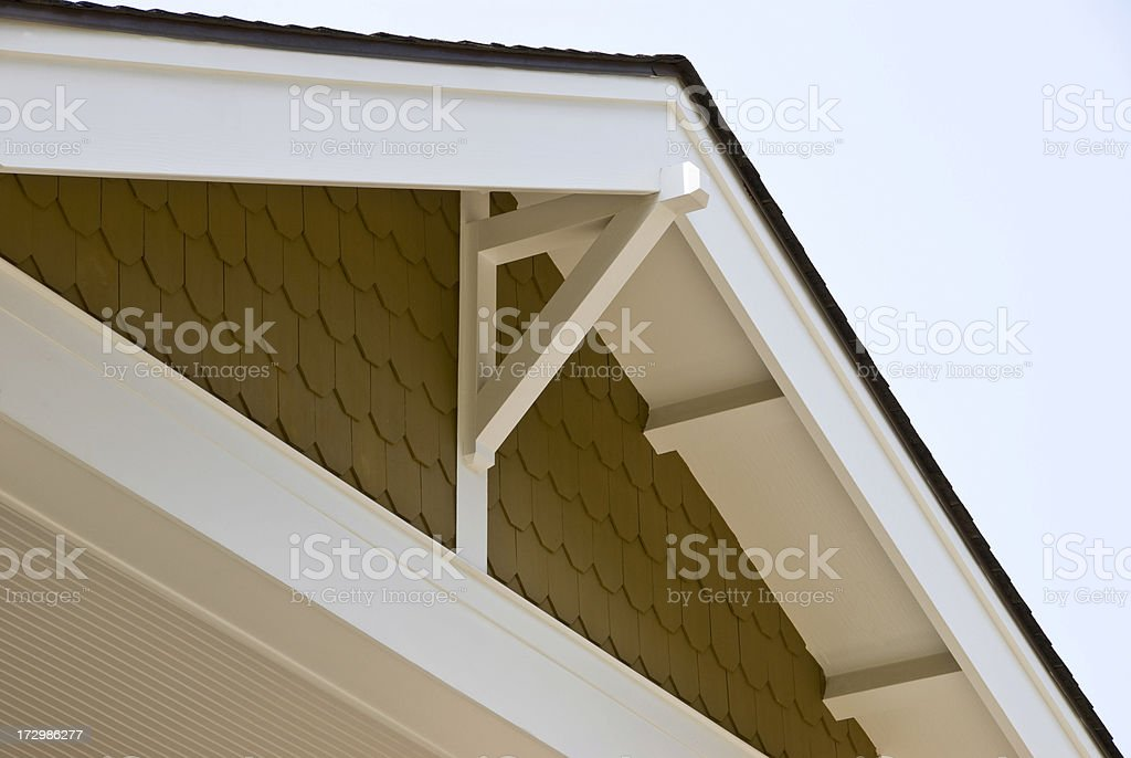 Bungalow roof horizontal royalty-free stock photo