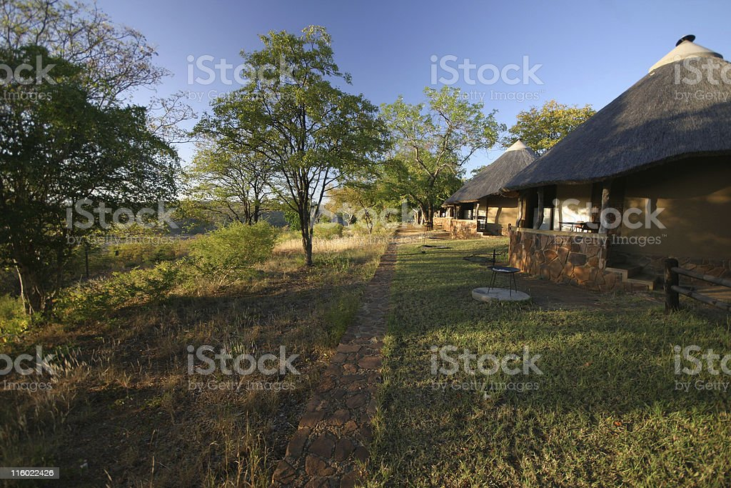 bungalows in the bush royalty-free stock photo