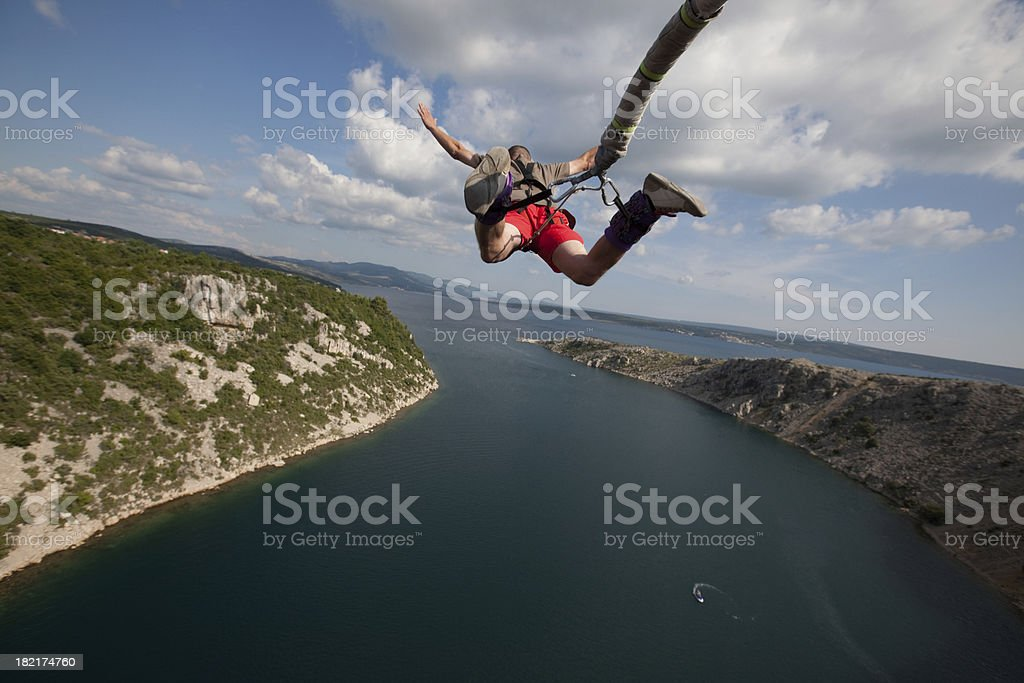 bungee jump stock photo