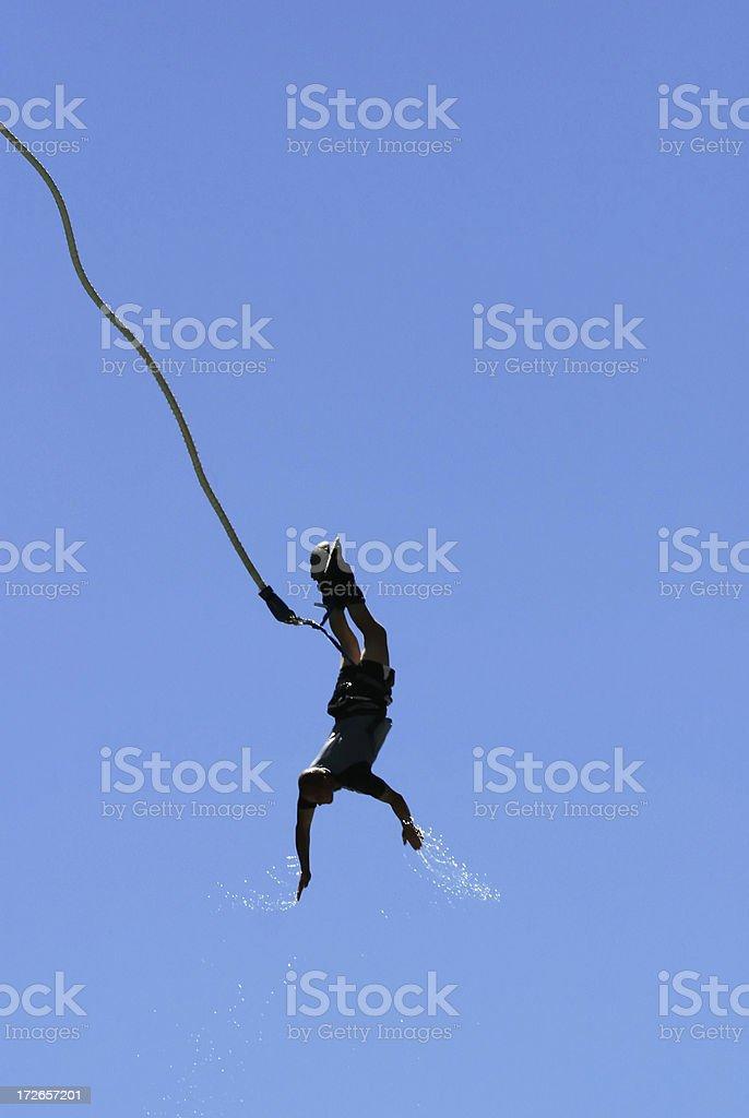 Bungee Jumper over the Kawarau River stock photo