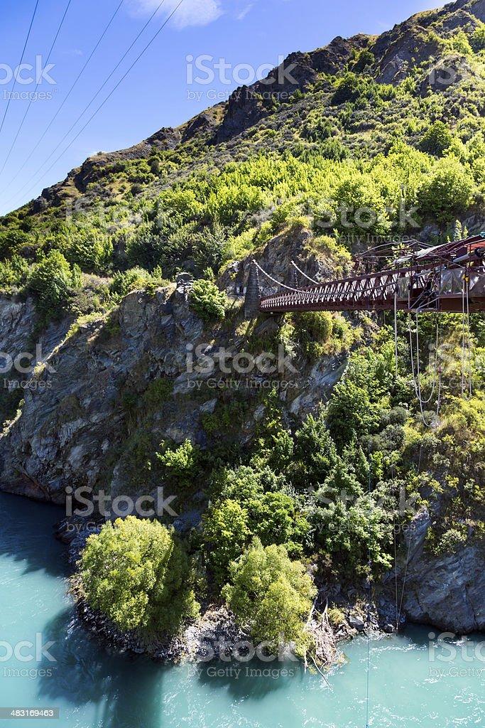Bungee Jumping Bridge stock photo
