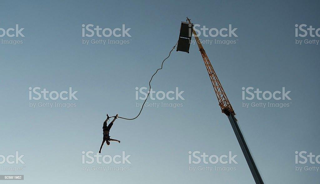 Bungee-jump stock photo