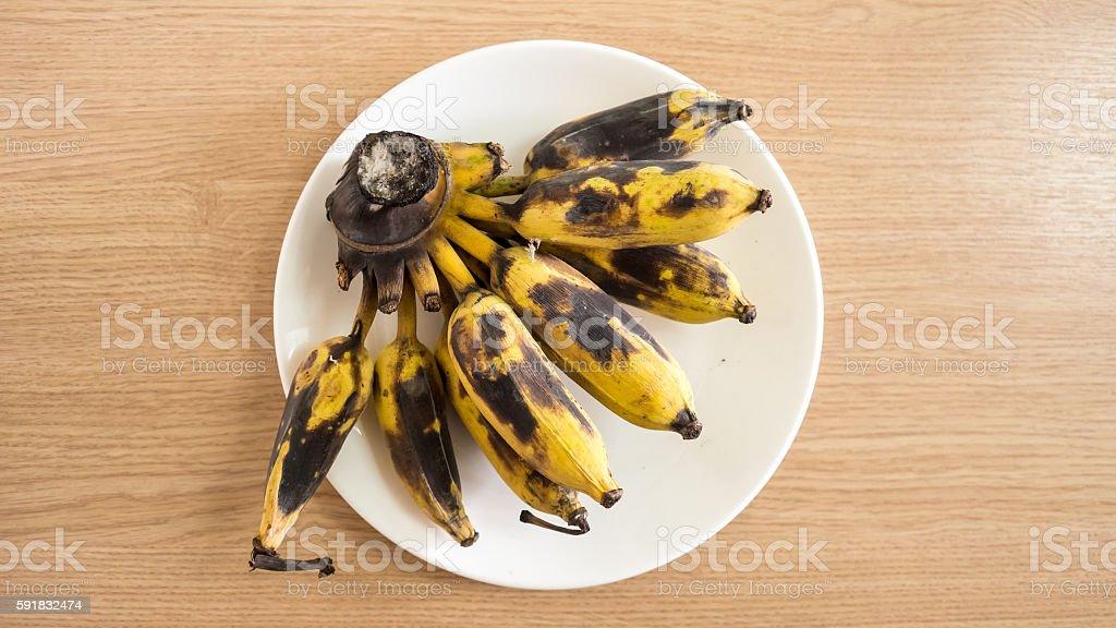 Bunhc of overripe banana. stock photo